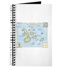 Galapagos Archipelago Map Journal