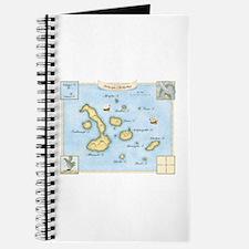 Galapagos Archipelago Map Journal