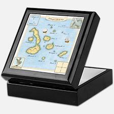 Galapagos Archipelago Map Keepsake Box
