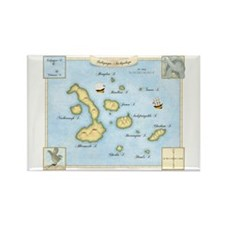 Galapagos Archipelago Map Rectangle Magnet