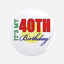 "40th Birthday Party 3.5"" Button"