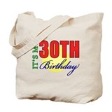 30th birthday gift for him Bags & Totes