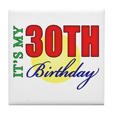 30th Birthday Party Tile Coaster