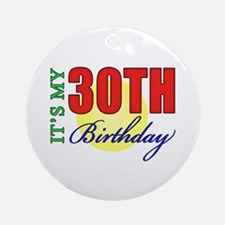 30th Birthday Party Ornament (Round)