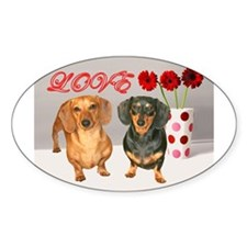 Flowers Oval Decal