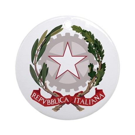Italy Coat of Arms Emblem Ornament (Round)