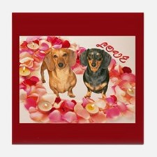 Flower Heart Tile Coaster