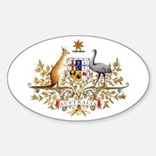 Australia Coat of Arms Oval Decal
