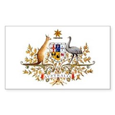 Australia Coat of Arms Rectangle Decal
