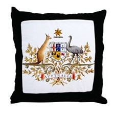 Australia Coat of Arms Throw Pillow