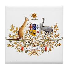 Australia Coat of Arms Tile Coaster