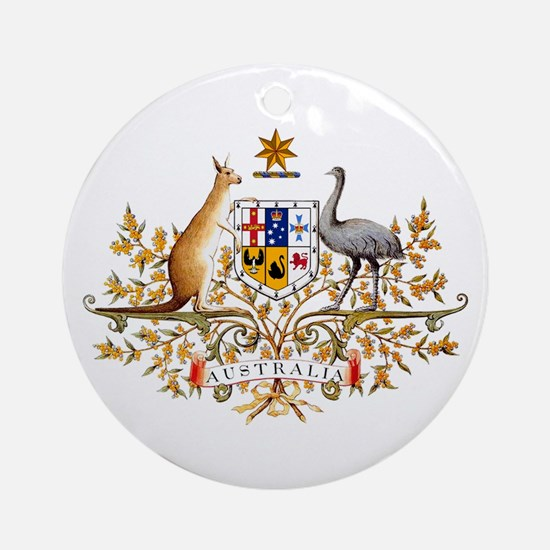 Australia Coat of Arms Ornament (Round)