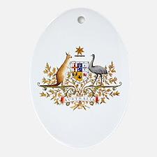 Australia Coat of Arms Oval Ornament