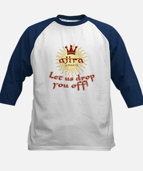 Lost Ajira Airlines Humor Kids Baseball Jersey