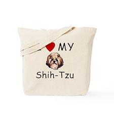 I Heart My Shih-Tzu Lost Humor Tote Bag