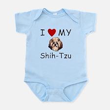 I Heart My Shih-Tzu Lost Humor Infant Bodysuit