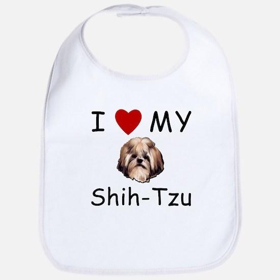 I Heart My Shih-Tzu Lost Humor Bib