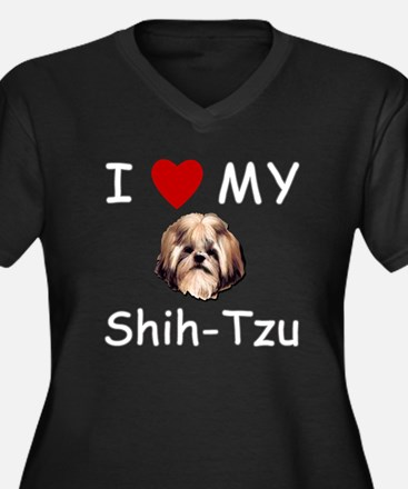 I Heart My Shih-Tzu Lost Humor Women's Plus Size V
