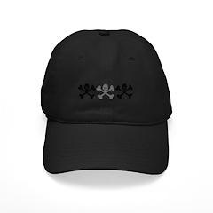 3Skulls&Crossbones Black Cap