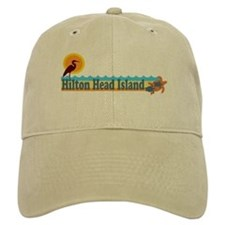 Hilton Head Island SC - Beach Design Baseball Cap