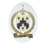 BARIOT Family Crest Oval Ornament