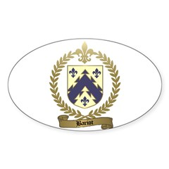 BARIOT Family Crest Oval Decal