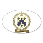 BARIOT Family Crest Oval Sticker