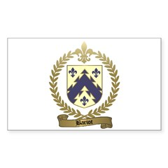 BARIOT Family Crest Rectangle Sticker