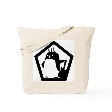 Rebel Penguin Tote Bag
