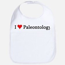 I Love Paleontology Bib
