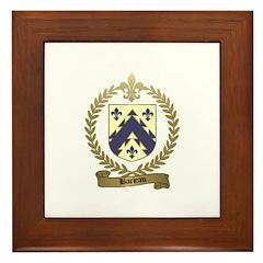 BARIEAU Family Crest Framed Tile