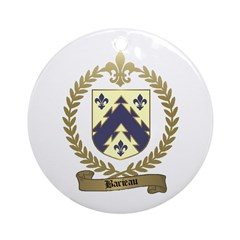 BARIEAU Family Crest Ornament (Round)