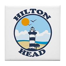 Hilton Head Island SC - Beach Design Tile Coaster