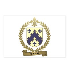 BARIEAU Family Crest Postcards (Package of 8)