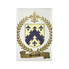 BARIEAU Family Crest Rectangle Magnet (10 pack)