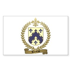 BARIEAU Family Crest Rectangle Sticker