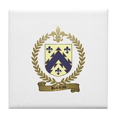 BARIEAU Family Crest Tile Coaster