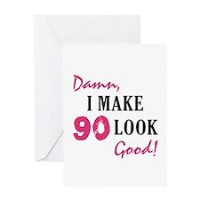 Hot 90th Birthday Greeting Card