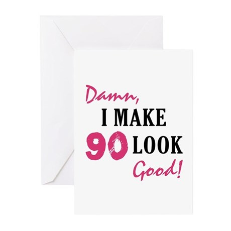 Hot 90th Birthday Greeting Cards (Pk of 20)
