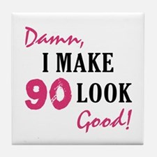 Hot 90th Birthday Tile Coaster