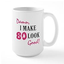 Hot 80th Birthday Mug