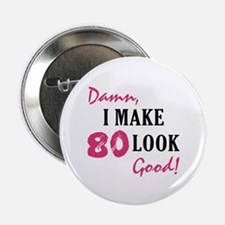 "Hot 80th Birthday 2.25"" Button"