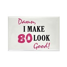Hot 80th Birthday Rectangle Magnet