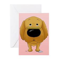Golden Valentine Greeting Card
