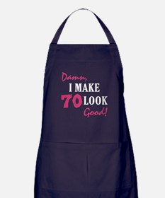 Hot 70th Birthday Apron (dark)