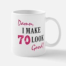 Hot 70th Birthday Mug