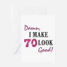 Hot 70th Birthday Greeting Card