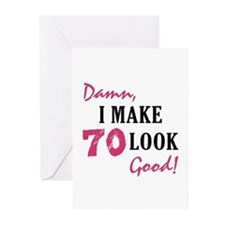 Hot 70th Birthday Greeting Cards (Pk of 10)