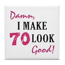 Hot 70th Birthday Tile Coaster