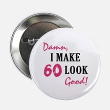 "Hot 60th Birthday 2.25"" Button"